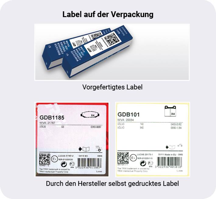 Verpackungen können über ein vorgefertigtes oder selbst gedrucktes Label serialisiert werden. Bei Produkten bietet sich die Serialisierung durch Direktmarkierung (z.B. Lasergravur) an.