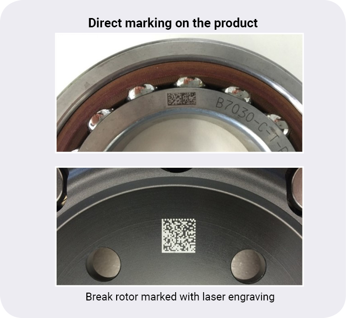 Packaging can be serialized via a prefabricated or self-printed label. For products, serialisation by direct marking (e.g. laser engraving) is an option.
